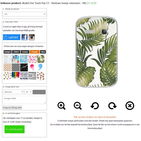 Alcatel Handy Case selbst gestalten