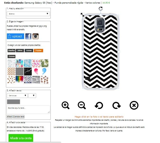 Galaxy S5 Hülle selbst gestalten - schwarz oder weiß