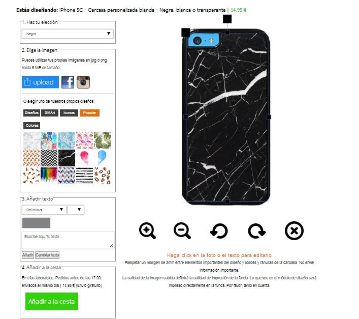 iPhone 5C Hülle selbst gestalten