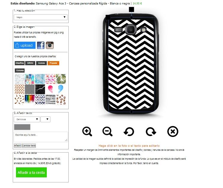 Samsung Galaxy Ace 3 Hülle selbst gestalten
