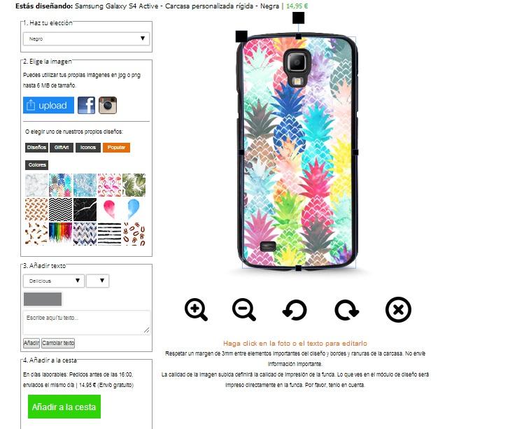 Samsung Galaxy S4 Active Hardcase selbst gestalten (schwarz)