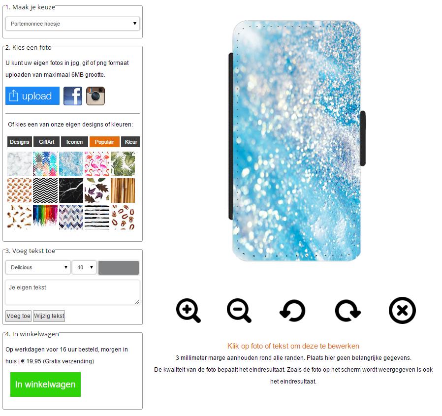 Samsung Galaxy S6 EDGE Plus Walletcase selbst gestalten
