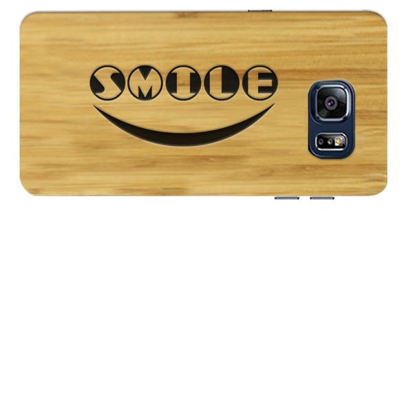 Samsung Galaxy S6 Holzcase mit Icon und Text graviert