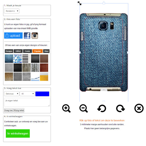 Samsung Galaxy S6 Hardcase selbst gestalten