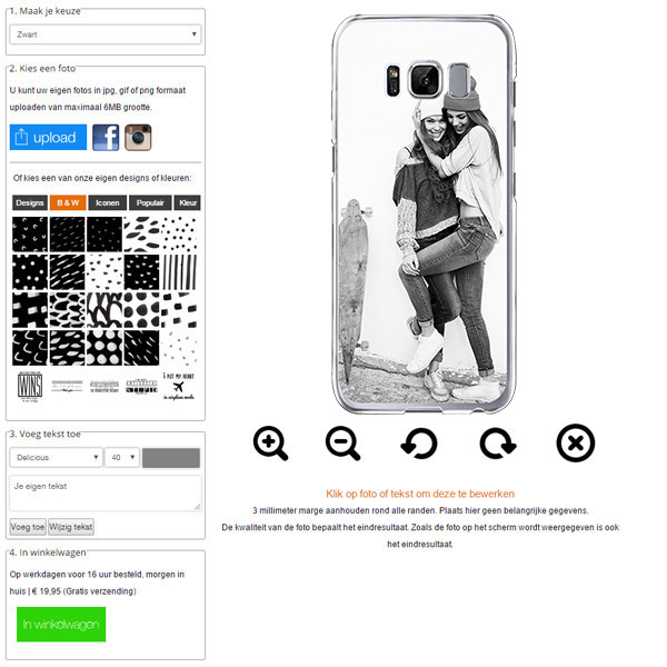 Galaxy S8 Fotohülle gestalten