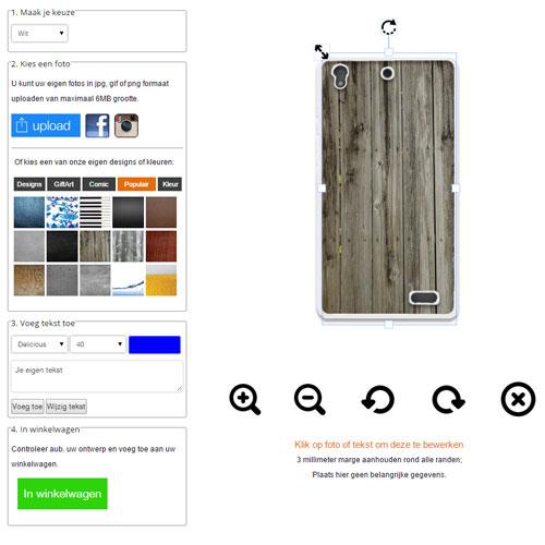Huawei Ascend G630 Handyhülle mit Foto schwarz oder weiß