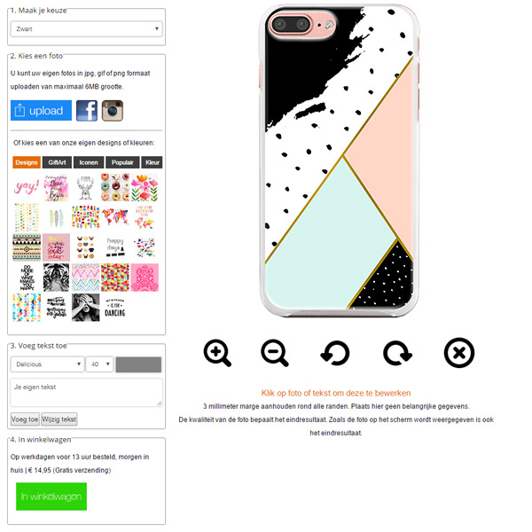 iPhone 7 Plus Softcase selbst gestalten