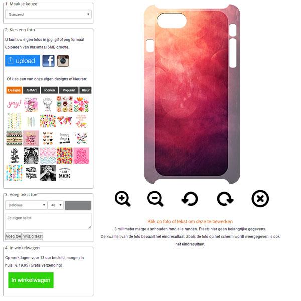 Rundum bedruckte iPhone 7 Handyhülle selbst gestalten