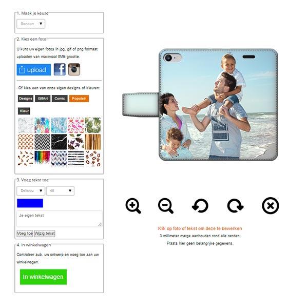 iPhone 7 Walletcase vollständig bedruckt