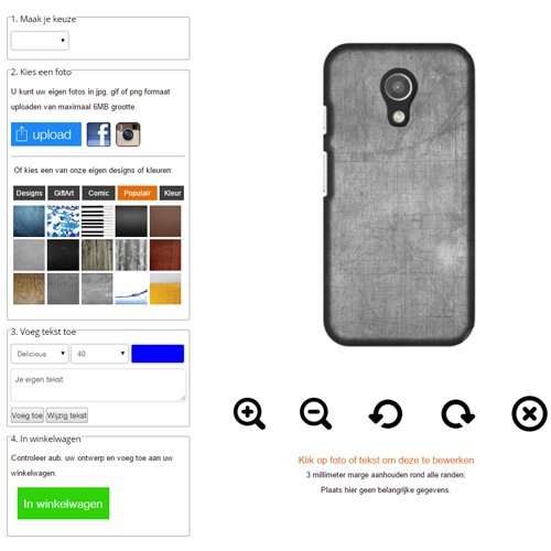 Individuelle Motorola G (2nd Gen) Handyhülle selbst gestalten