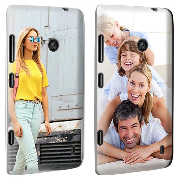 Nokia Lumia 520 Hardcase Handyhülle mit Foto in schwarz, weiß oder transparent