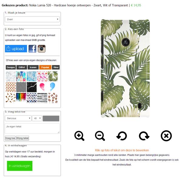 Individuelle Nokia Lumia Hülle selbst gestalten